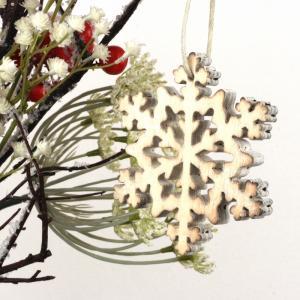 Závesná vianočné dekorácie snehová vločka 18cm