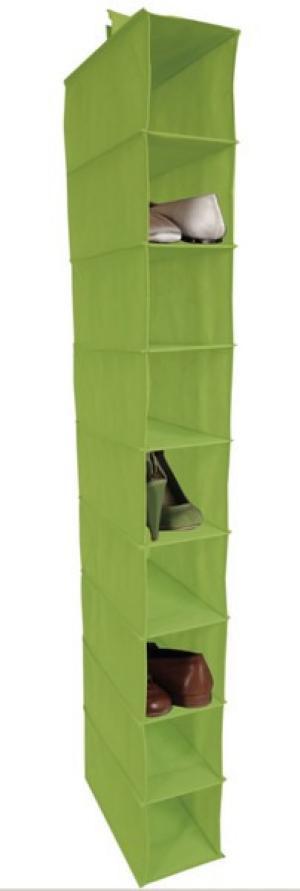 Závesný regál Cover (9 priehradiek), zelený