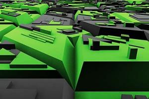 Zelená tapeta 5239 - vinylová