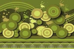 Zelená tapeta 6243 - vliesová