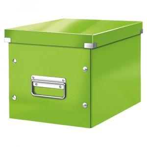 Zelená úložná škatuľa Leitz Office, dĺžka 26 cm