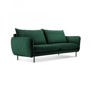 Zelená zamatová pohovka Cosmopolitan Design Vienna, 160 cm