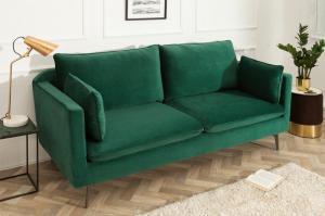 Zelená zamatová sedačka Famous 210 cm »