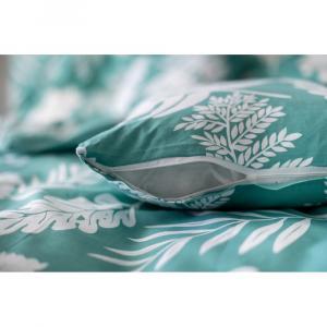 Zelené bavlnené obliečky Cotton House Palma, 140 x 200 cm