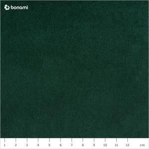 Zeleno-čierna zamatová lavica EMKO Naïve, 100 cm