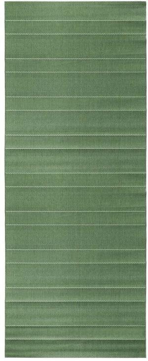 Zelený behúň vhodný aj do exteriéru Hanse Home Sunshine, 80 × 300 cm