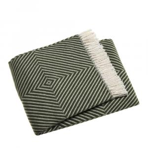Zelený pléd s podielom bavlny Euromant Tebas, 140x180 cm