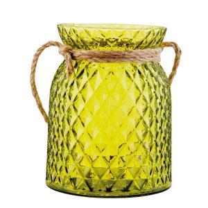Zelený svietnik na čajovú sviečku - Ø 12 * 15 cm