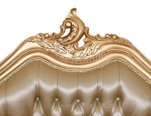 Zlatá barokní postel Champagne 180cm