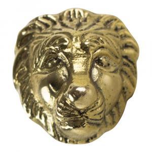 Zlatá úchytka lev - 3,4 * 3,4 * 6cm