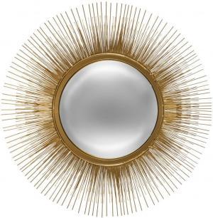 Zlaté nástenné zrkadlo Slnko Atmosphera 3834, 58 cm