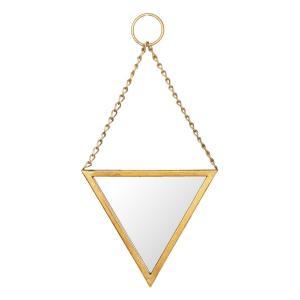 Zlaté trojuholníkové zrkadlo - 22 * 2 * 23 cm
