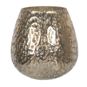 Zlatý sklenený svietnik na čajovú sviečku - Ø 14*14 cm