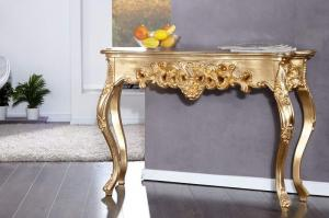 Zlatý toaletný stolík Venice 35 x 110 cm »