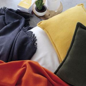 Žltá deka s podielom bavlny Euromant Basics, 140 x 160 cm