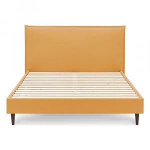 Žltá dvojlôžková posteľ Bobochic Paris Dark, 180 x 200 cm