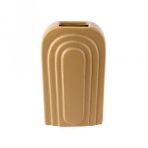 Žltá keramická váza PT LIVING Arc, výška 27 cm