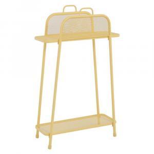 Žltá kovová polica na balkón ADDU MWH, výška 105,5 cm