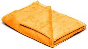 Žltá mikroplyšová deka My House, 150 × 200 cm