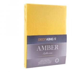 Žltá plachta DecoKing Amber Collection, 200/220 x 200 cm