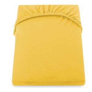 Žltá plachta DecoKing Amber Collection, 80-90×200cm
