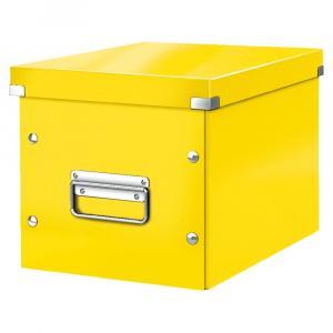 Žltá úložná škatuľa Leitz Office, dĺžka 26 cm