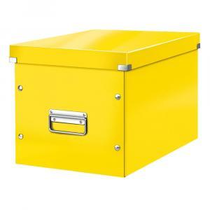 Žltá úložná škatuľa Leitz Office, dĺžka 36 cm