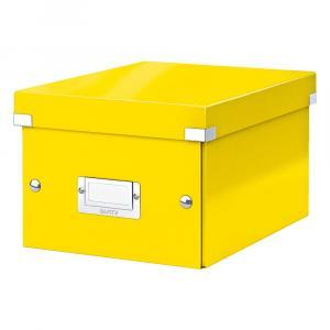 Žltá úložná škatuľa Leitz Universal, dĺžka 28 cm