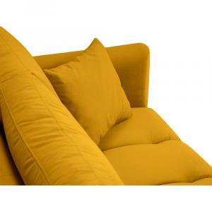 Žltá zamatová pohovka Interieurs 86 Octave