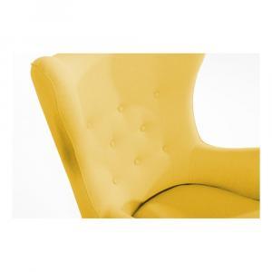 Žlté kreslo ušiak Max Winzer Miriam