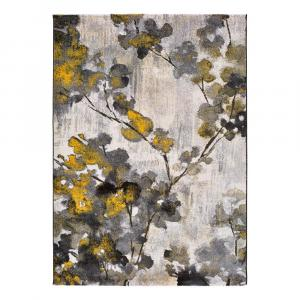 Žlto-šedý koberec Universal Bukit Mustard, 140 x 200 cm