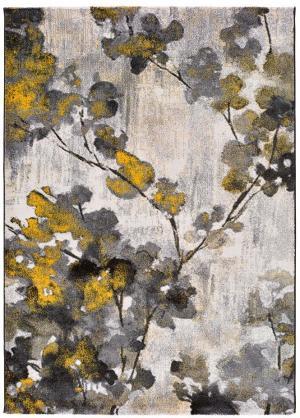 Žlto-šedý koberec Universal Bukit Mustard, 160 x 230 cm