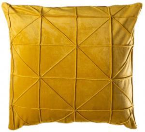 Žltý vankúš JAHU Amy, 45 x 45 cm