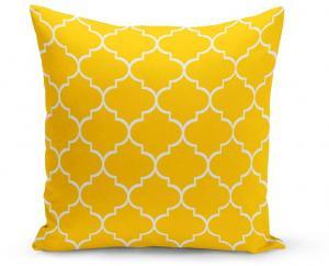 Žltý vankúš s výplňou Jane, 43 × 43 cm