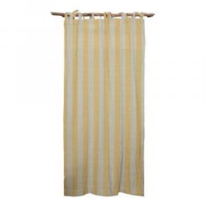 Žltý záves Linen Couture Cuture Cortina Hogar Yellow Stripes