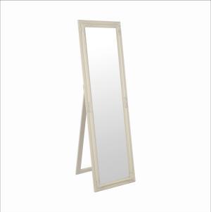 Zrkadlo, drevený rám smotanovej farby, MALKIA TYP 12