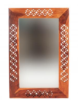 Zrkadlo Mira 90x60x2,5 indický masív palisander - Natural