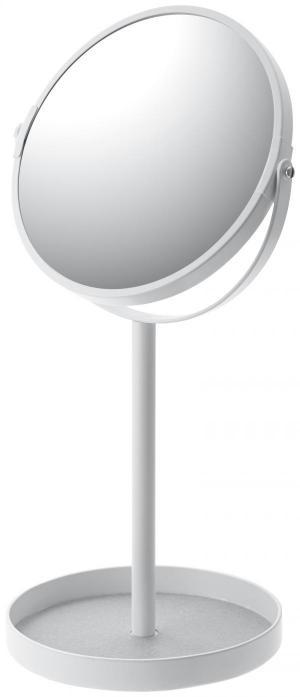 Zrkadlo s miskou Yamazaki Tower Make Up, biele