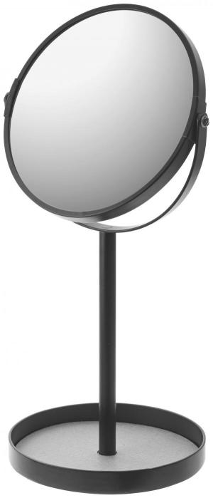 Zrkadlo s miskou Yamazaki Tower Make Up, čierne