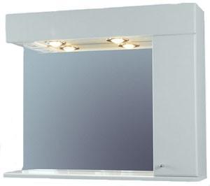 Zrkadlo so skrinkou NDS/K 750, biela pololesk