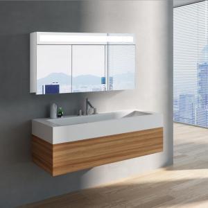 Zrkadlová skrinka MIAMI 120 cm, biela, LED osvetlenie