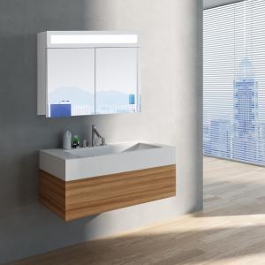 Zrkadlová skrinka MIAMI 80 cm, biela, LED osvetlenie