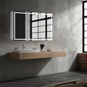 Zrkadlová skrinka MILANO, 100cm, biela, s LED osvetlením