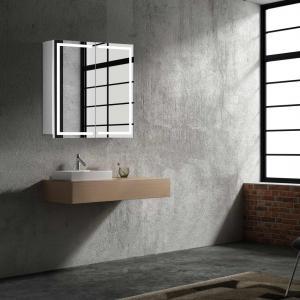 Zrkadlová skrinka MILANO, 60 cm, biela, s LED osvetlením