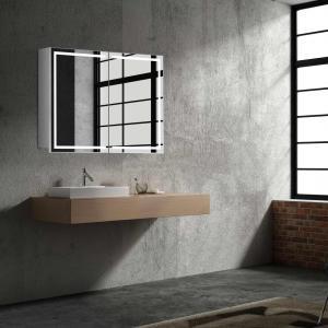 Zrkadlová skrinka MILANO, 80 cm, biela, s LED osvetlením