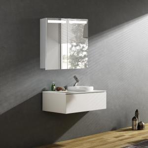 Zrkadlová skrinka ORLANDO, 60 cm, biela, s LED osvetlením