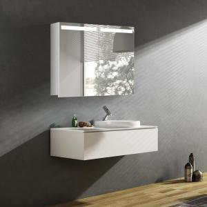 Zrkadlová skrinka ORLANDO, 80 cm, biela, s LED svetlom