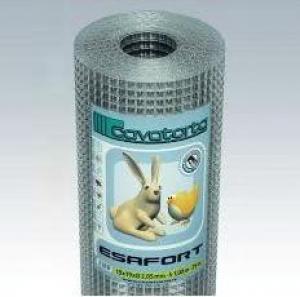 Zvárané pletivo ESAFORT pozinkované Veľkosť oka: 25,4 x 50,8 mm, Sila drôtu: 2,05 mm
