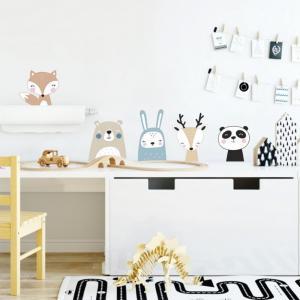 Zvieratká - textilné nálepky do detskej izby
