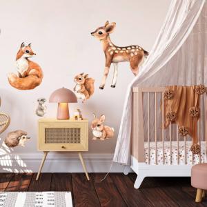 Zvieratká z lesa - samolepky pre deti